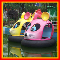 Lovely mouse shaped water park toys rubber bumper boat
