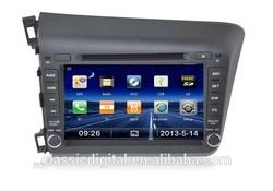 Classic digital car dvd gps navigation for honda civic 2012