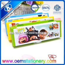 japanese pencil cases/cheap colorful plastic pencil case for schoolsilicone pencil bag/design your own pencil case