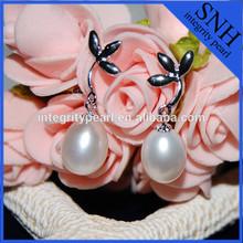 Cheap drop pearl fashion 925 sterling silver pearl earring