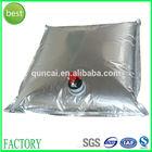 aluminum foil wine bag, juice, water, oil bag in box with tap valve