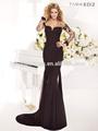 новое прибытие элегантный высоким воротником с длинным рукавом черного шарики аппликация мусульманских тарик ediz 92345 платье вечернее платье 2014 турции