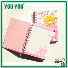cute small dairy 2015, hard cover notebook, custom spiral hard cover notebook