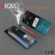 Wholesale the best e cigarette uk ego e cig Mini-smart2 with Ego blister packaging