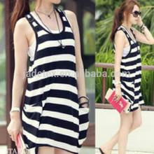 wholesale black white striped satin fabric for garment/black white striped satin fabric
