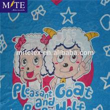 100% polyester lovely sheep printed polar fleece fabric blanket