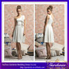 Latest Style High Quality Knee Length Simple White One Shoulder Short Chiffon Bridesmaids Dresses (ZX1110)