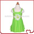 Nova moda das meninas do algodão da criança meninas vestidos de verão fantasia flor nomes de meninas vestidos