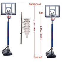 portable basketball hoop in basketball with victory steel rebound board