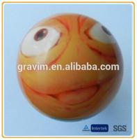 New Custom Cheap Bulk Heat/ Thermal Transfer PU Funny/ Smiley Face Stress Ball