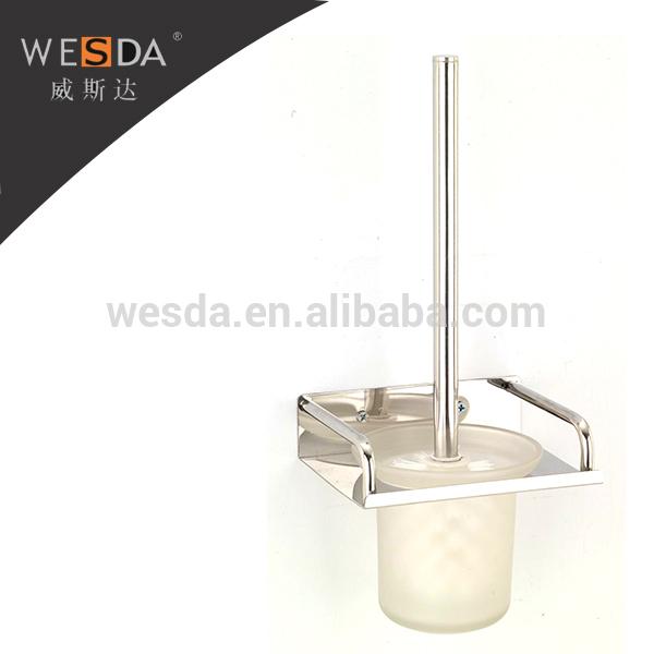 wesda acessórios do banheiro moderno cromo única parede montada escova de vas -> Acessorios Banheiro Moderno