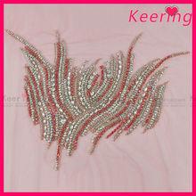Elegant pearl beaded embellishments for dresses WRA-483