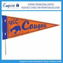 Basketball Orange High Quality Triangle Sport Flag For Promotion