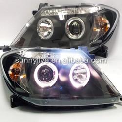 2004-2010 year TOYOTA HILUX VIGO LED Angel Eyes Headlights Head Lamp Black Housing SN