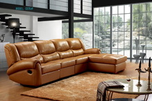 #C076 2014 New style modern leather recliner sofa