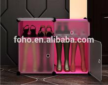 2014 hot sale 4 cubes plastic plastic media cabinets and shoe boot storage FH-AL0511-4