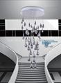 krom su damla kolye lamba tavan ışıkları