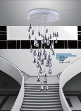 Chrome water drop pendant lamp ceiling lights