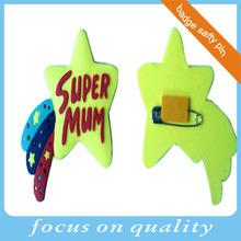 new flexible rubber pvc 2d 3d lapel pin Super Mum souvenirs low price