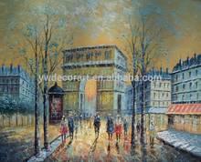 handmade France triumphal arch oil painting on canvas