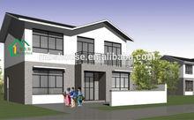luxury prefab steel villa/villa design and drawing/steel villa