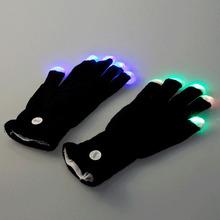7 Mode Rave Light Finger Lighting Flashing Glow Mittens LED\ Hand Gloves