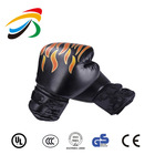 Leather professional boxing gloves