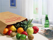 stand up paper bag /vegetables /fruit paper bag /take away fast food paper bag