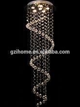 Classic design spiral shape crystal Gu10 hanging lamp (IH-7106)