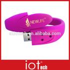 Silicone Wristband USB Watch with Custom Logo