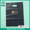Black printing punch handle bag plastic bag with die cutting, promotional plastic bag