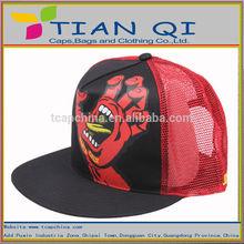 high quality ventilate trucker mesh cap with horrific printing