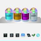 Beauty SK#20B LED Crystal Light Mini Digital Speaker Multifunctional Music Speaker