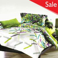 Stripe pattern disperse 100% polyester fabric factory wholesale bedding set