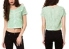 Ladies Crop Tops All over Lace latest design 2014 new Crop tops