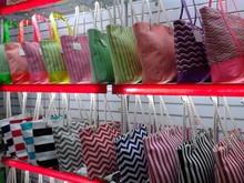 Stocks Fashion sexy women stripe chevron canvas beach tote bag SHOPPING BAG BEACH BAG Bolsa de galon saco delivry within 3 days