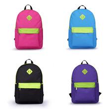 Fashion Men Women Rucksacks school backpack Canvas Satchel Softback Bag Blue/Red/Black/Rose H10416