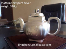 gift craft/arts and craft/art craft of silver teapot