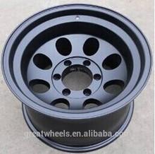 Black 15X8 aluminum wheel for sport car