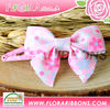 Small floral hair bow clips Kids hair clips