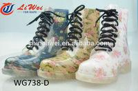 Fashionable ladies plastic rain boots pvc boot