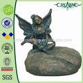 """9"""" de amor do jardim de pedra sentado estátua de fadas para a decoração home"""