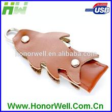 Best Price Marketing Gift Cute Goldfish Shape Leather USB 2.0 Driver