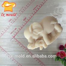 handmake elefanti amore della famiglia stampi in silicone sapone