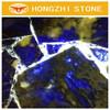 HONGZHI Wholesale Price Of Natural Luxuriou Decorative Blue Sodalite Granite Sapphire Granite Precious Stone