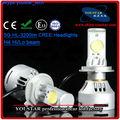 H4 9003 poder más elevado del CREE de la mazorca LED 6400lm alta luz de cruce del faro HB2 bombilla para coches y de la motocicleta