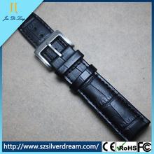 Wholesale buckle waterproof watch belt,leather watch band,belt loop watch