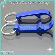 Customized Aluminium colorful bottle opener keychain/colorful bottle opener keyring