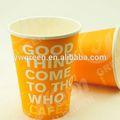 Descartáveis copos de café expresso, bebida quente pla copo de papel de café do copo de papel
