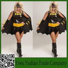 Black Soldiers Batman Animation Game Uniforms Temptation Halloween Cosplay Party Dress